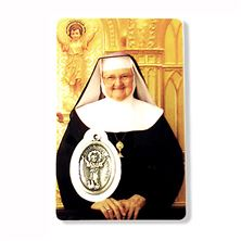 MOTHER ANGELICA HOLY CARD W/ MEDAL