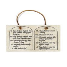 TEN COMMANDMENTS STONE PLAQUE