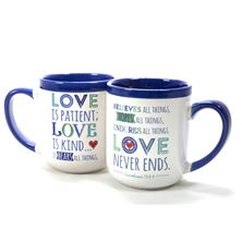 LOVE IS PATIENT SCRIPTURE MUG