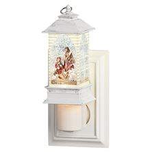 HOLY FAMILY LANTERN NIGHT LIGHT WITH SWIRL