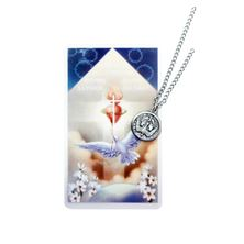 HOLY SPIRIT PENDANT WITH PRAYER CARD