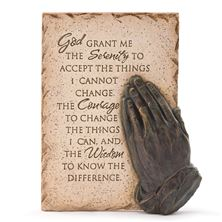 PRAYING HANDS SERENITY WALL PLAQUE