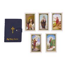HOLY CARD COLLECTION BOOK W/ 5 FREE HOLY CARDS