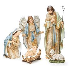NATIVITY SET WITH ANGEL AND LAMB (5-PIECE)