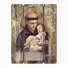 ST. ANTHONY OF PADUA - PANEL PLAQUE