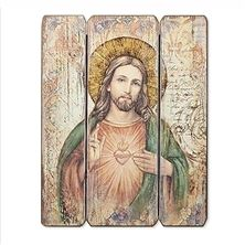 SACRED HEART OF JESUS PANEL PLAQUE