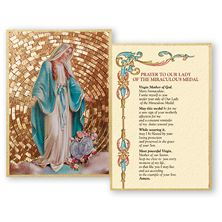 OUR LADY OF GRACE / MIRACULOUS MEDAL MOSAIC PLAQUE