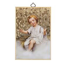 INFANT JESUS MOSAIC PLAQUE