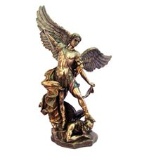 ST. MICHAEL BRONZED STATUE 14 + - INCH