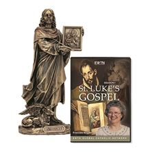 ST LUKE BRONZE STATUE and FREE DVD