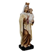 OUR LADY OF MT. CARMEL - PAINTED STATUE