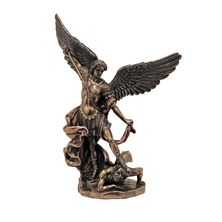 ST. MICHAEL BRONZED STATUE - 8 INCH