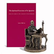ST. IGNATIUS OF LOYOLA STATUE AND FREE BOOK