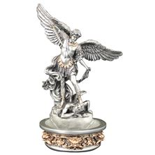 ST. MICHAEL HOLY WATER FONT - PEWTER FINISH