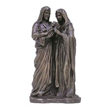 HOLY FAMILY COLD CAST BRONZE STATUE