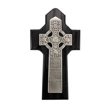 BLACK CELTIC CROSS WITH I.H.S.