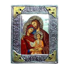 HOLY FAMILY ICON - PAINTED