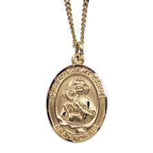 OUR LADY OF MT. CARMEL GOLD-FILLED MEDAL