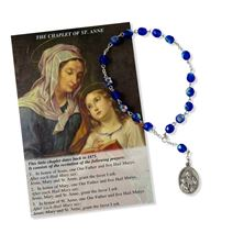 CHAPLET OF SAINT ANNE  BLUE GLASS