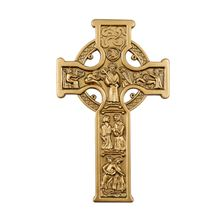 TRUE CELTIC CROSS - ANTIQUE GOLD