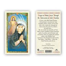 LAMINATED HOLY CARD - ST. FAUSTINA
