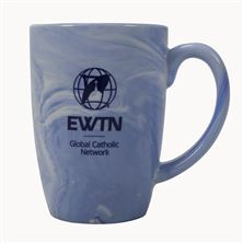 EWTN BLUE and WHITE SWIRL COFFEE MUG