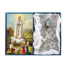 OUR LADY OF FATIMA - CLEAR GLASS BEAD ROSARY