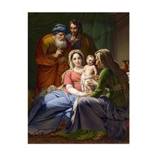 HOLY FAMILY WITH GRANDPARENTS SET OF 6 CHRISTMAS CARDS