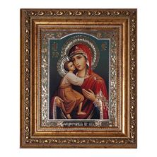VIRGIN OF VLADIMIR ICON WITH CRYSTALS