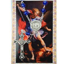 ST. MICHAEL AUTO ROSARY WITH HOLY CARD