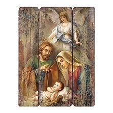 HOLY FAMILY PANEL PLAQUE