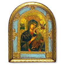 OUR LADY OF PERPETUAL HELP FLORENTINE PLAQUE