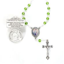GUARDIAN ANGEL VISOR CLIP AND AUTO ROSARY