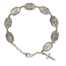 SAINTS BRACELET - STERLING SILVER