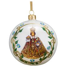 INFANT OF PRAGUE - BLOWN GLASS ORNAMENT