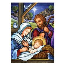 STAINED GLASS HOLY FAMILY - GREETING CARD ADVENT CALENDAR