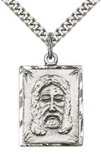 Sterling Silver Holy Face Pendant with chain