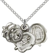 Sterling Silver Rosebud Pendant with chain