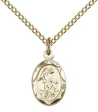 14kt Gold Filled Guardian Angel Pendant with chain