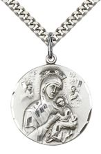 Sterling Silver Our Lady of Perpetual Help Pendant with chain