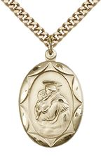 14kt Gold Filled St Anthony Pendant with chain