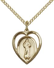 14Kt Gold Filled Divine Mercy Pendant with chain