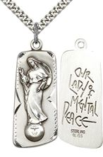 Sterling Silver Our Lady of Mental Peace Pendant with chain