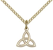 14kt Gold Filled Trinity Irish Knot Pendant with chain