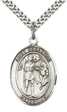 Sterling Silver St Sebastian Pendant with chain