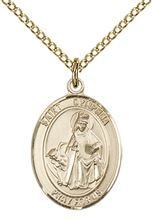 14kt Gold Filled St Dymphna Pendant with chain