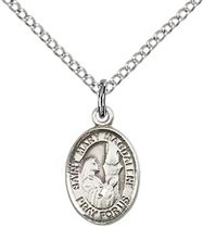 Sterling Silver St Mary Magdalene Pendant with chain
