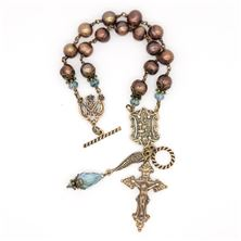 CHOCOLATE PEARL HOLY EUCHARIST BRACELET