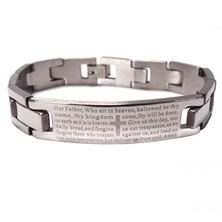 MEN'S STAINLESS BRACELET WITH OUR FATHER