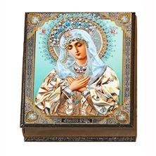 VIRGIN OF HUMILITY ROSARY KEEPSAKE BOX